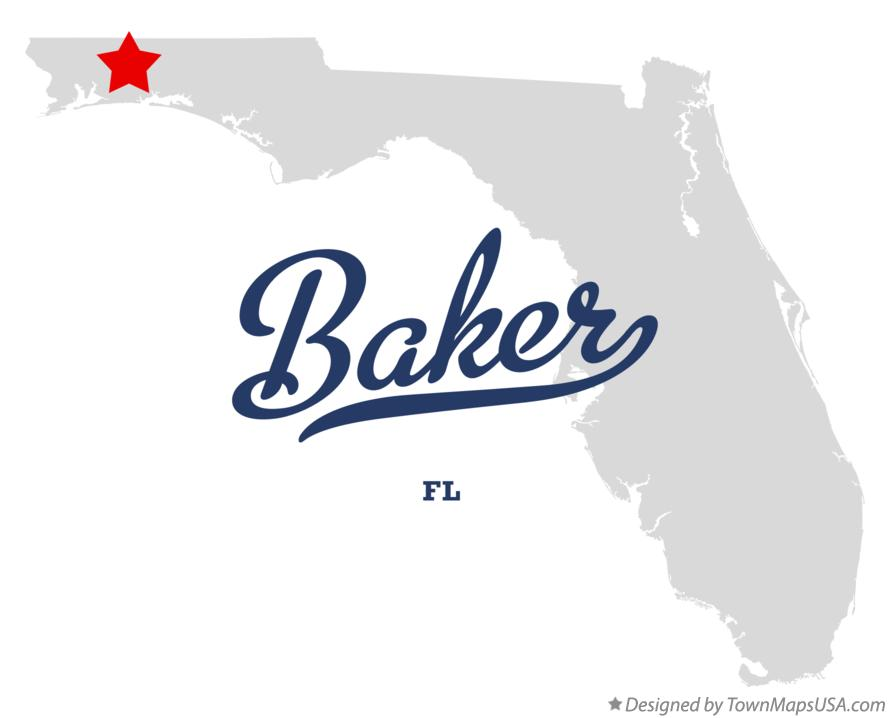 Map of Baker Florida FL