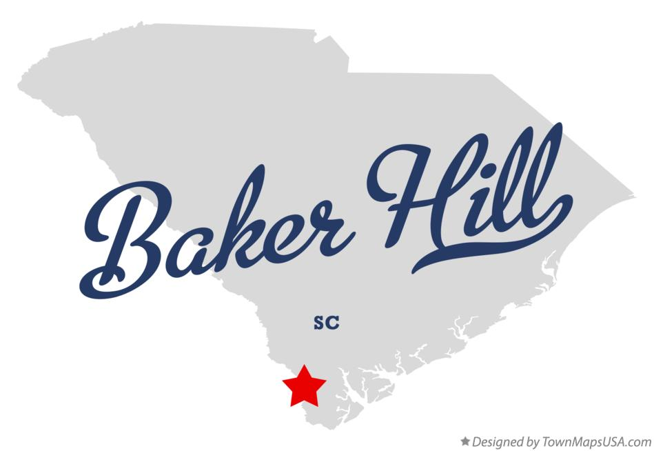 Map of Baker Hill South Carolina SC