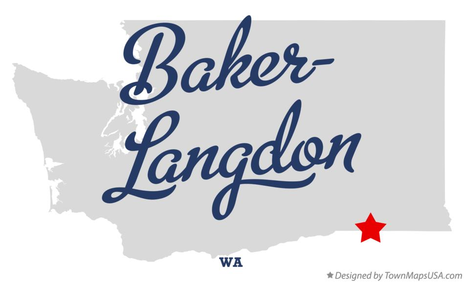 Map of Baker-Langdon Washington WA