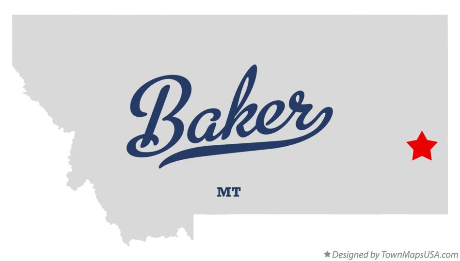 Map Of Baker Mt Montana