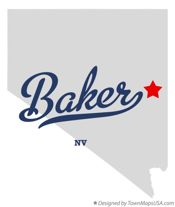 Map of Baker Nevada NV