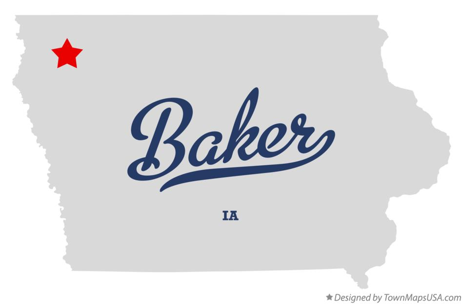 Map of Baker Iowa IA
