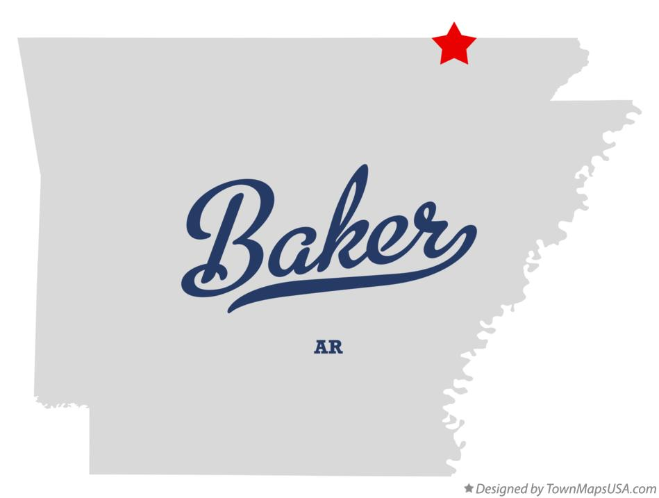 Map of Baker Arkansas AR