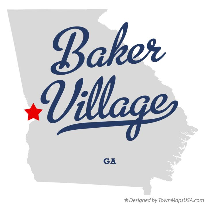 Map of Baker Village Georgia GA