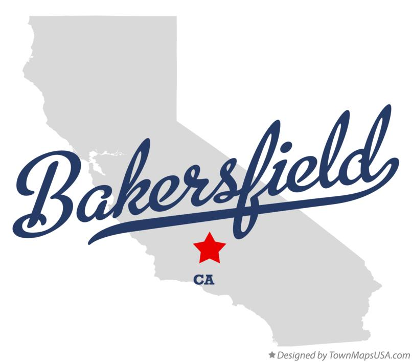 Map of Bakersfield California CA