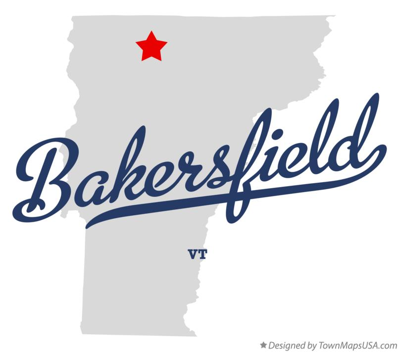 Map of Bakersfield Vermont VT