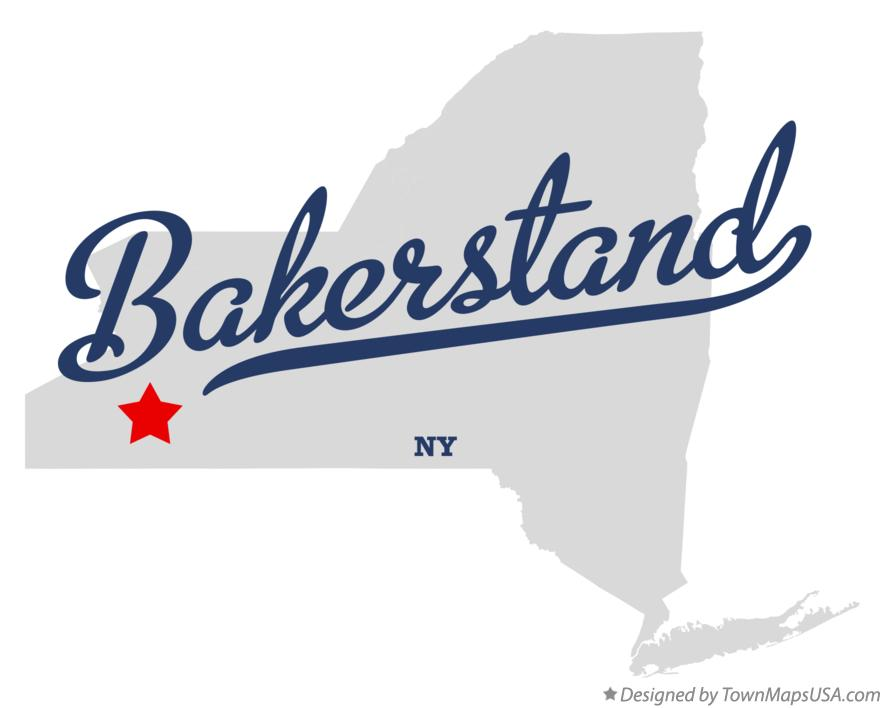 Map of Bakerstand New York NY