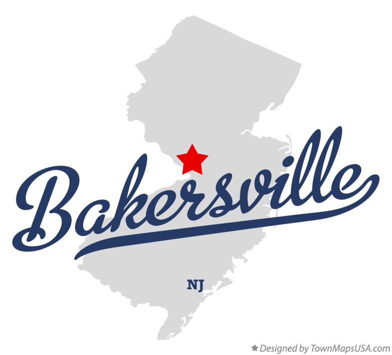 Map of Bakersville New Jersey NJ
