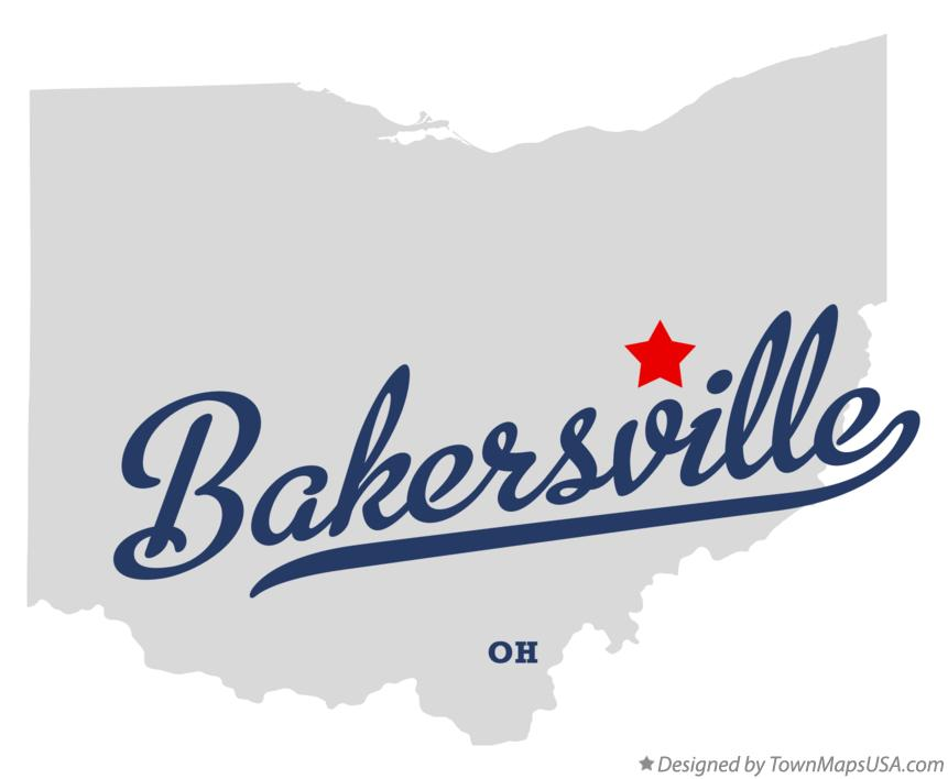 Map of Bakersville Ohio OH