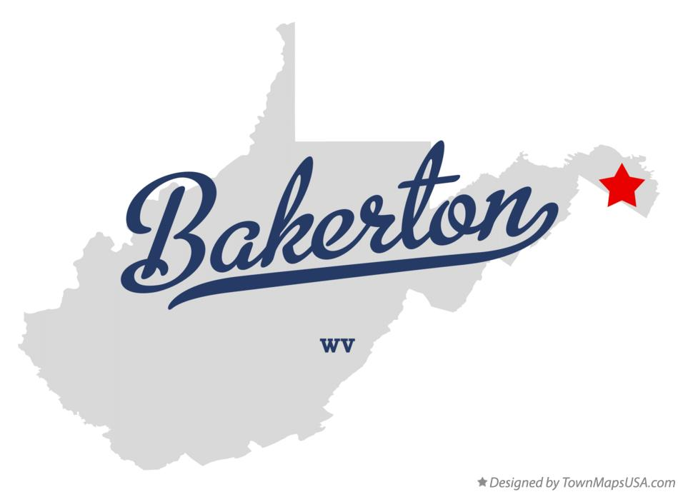 Map of Bakerton West Virginia WV