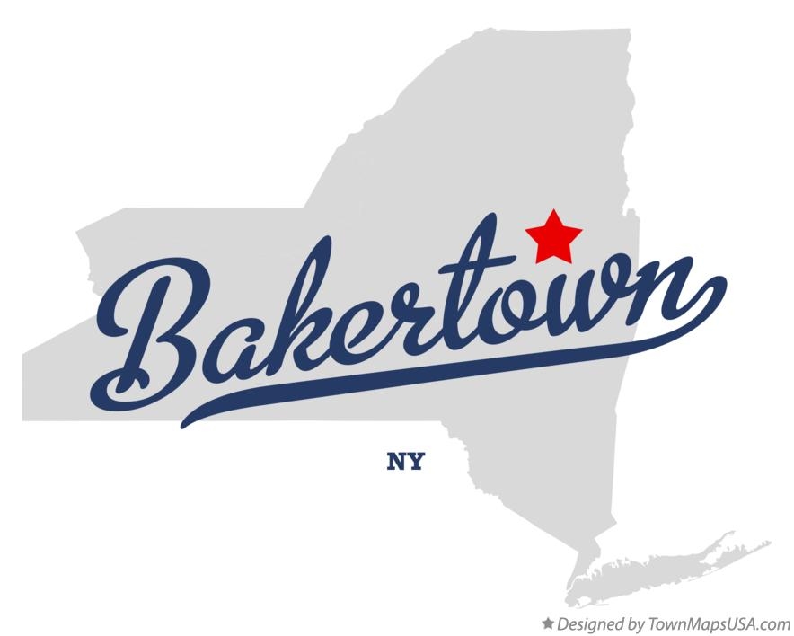 Map of Bakertown New York NY