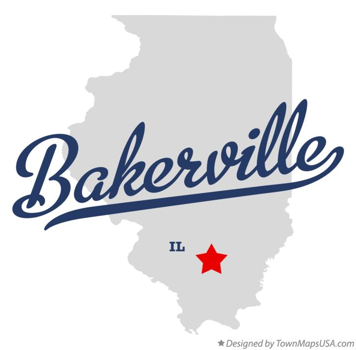 Map of Bakerville Illinois IL