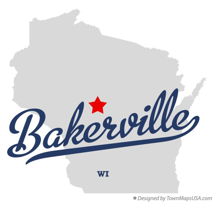 Map of Bakerville Wisconsin WI
