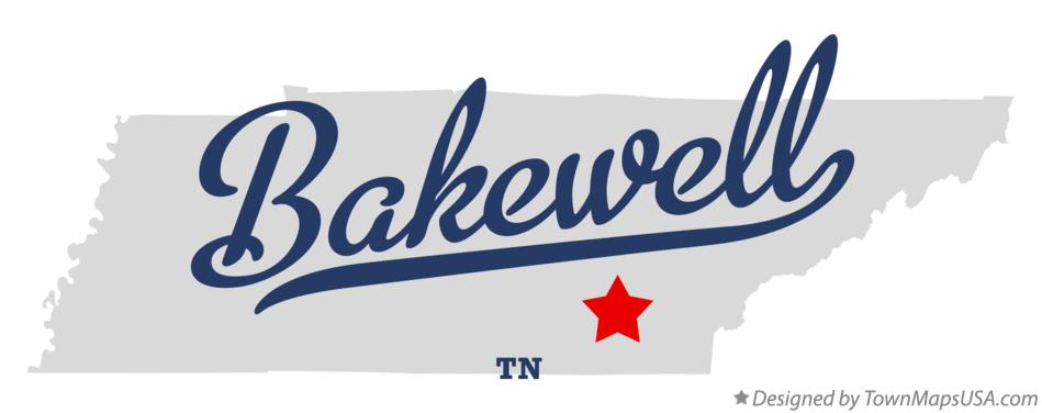 Map of Bakewell Tennessee TN