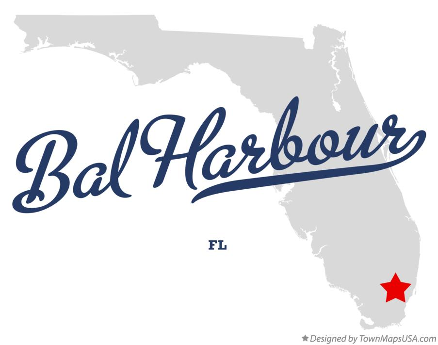 Map of Bal Harbour Florida FL