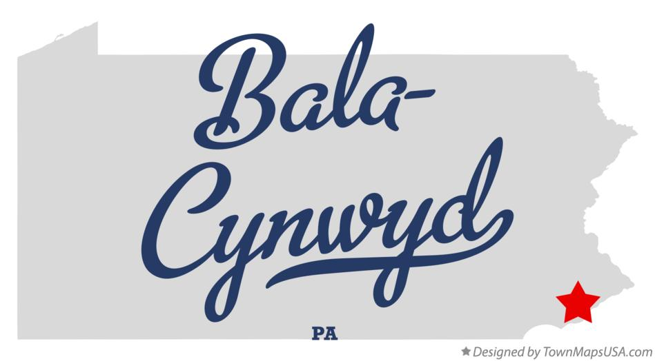 Map of Bala-Cynwyd Pennsylvania PA