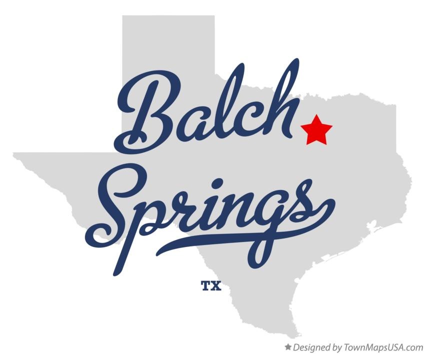 Map of Balch Springs Texas TX