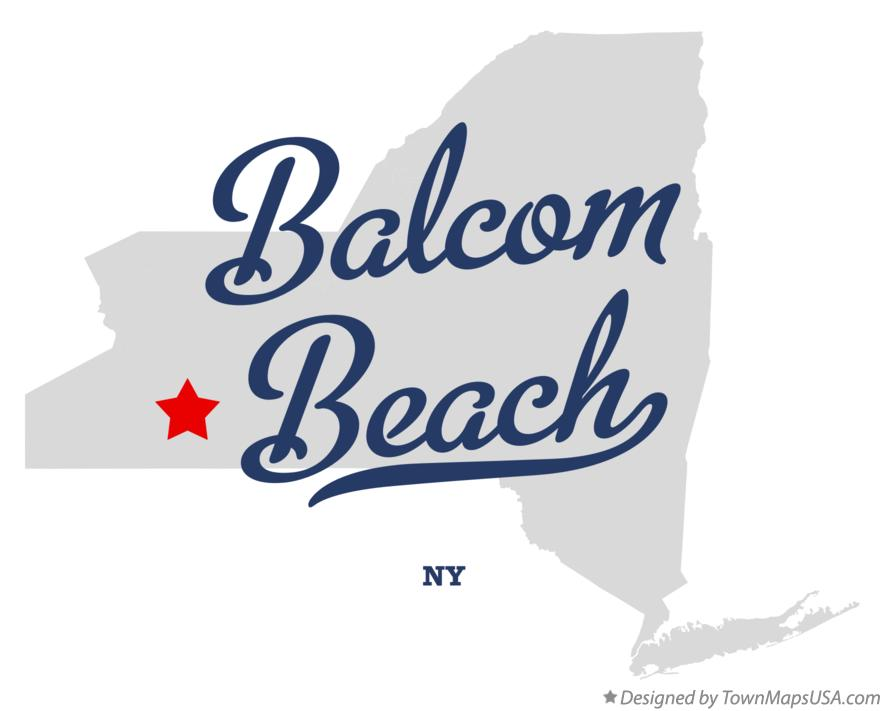Map of Balcom Beach New York NY
