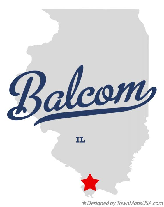 Map of Balcom Illinois IL