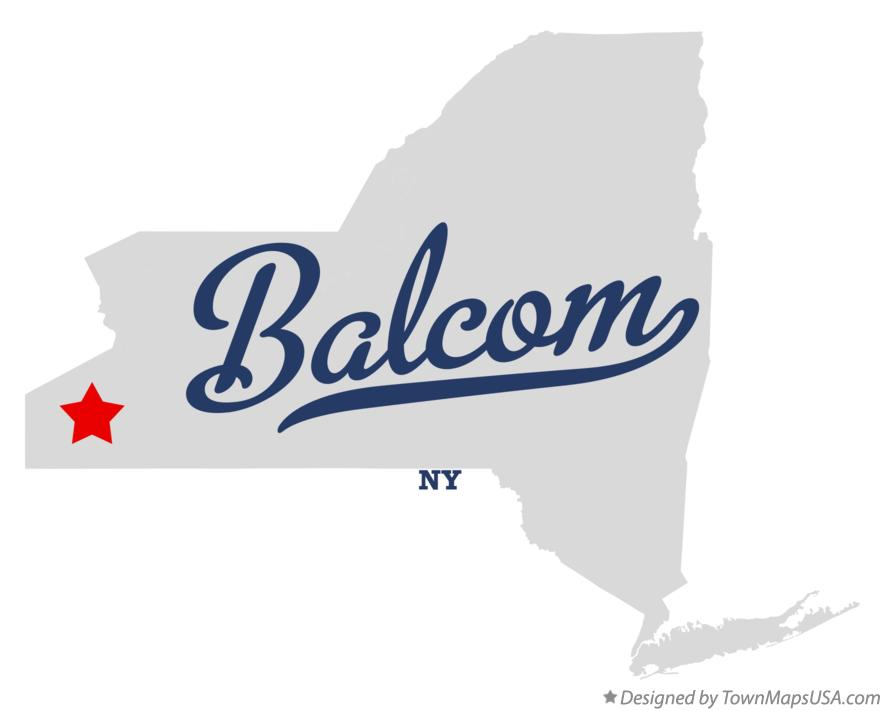 Map of Balcom New York NY