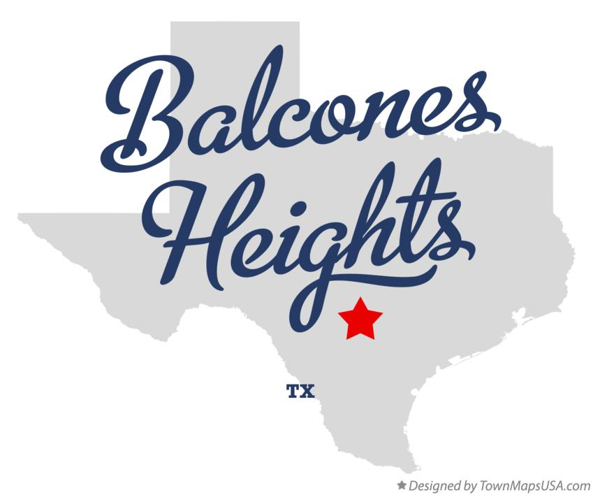 Map of Balcones Heights Texas TX
