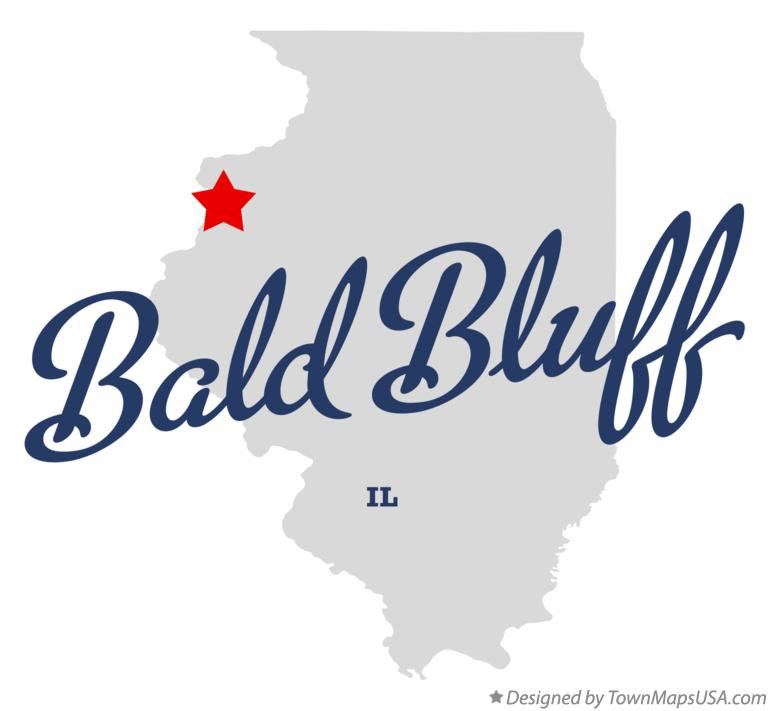 Map of Bald Bluff Illinois IL