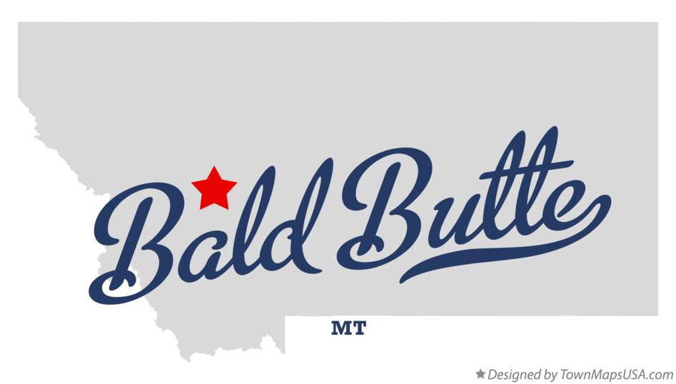Map of Bald Butte Montana MT