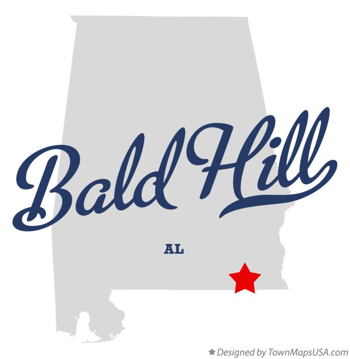 Map of Bald Hill Alabama AL