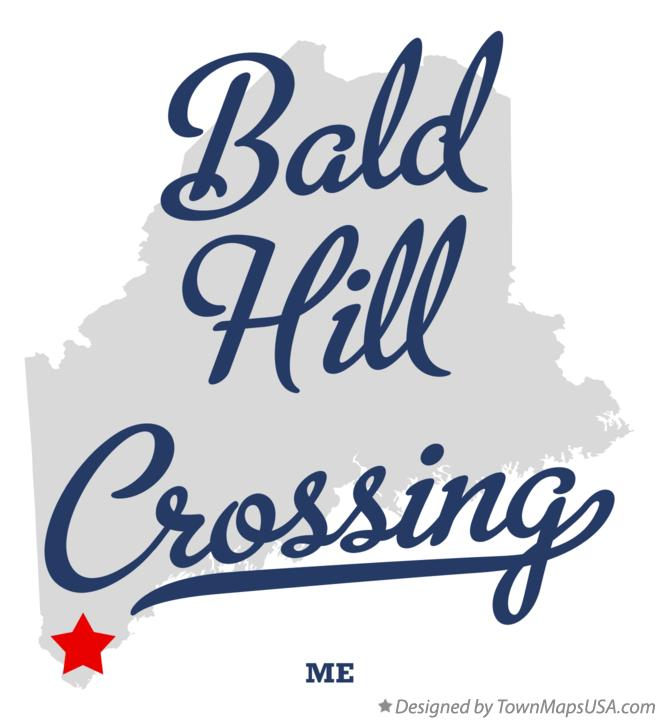 Map of Bald Hill Crossing Maine ME