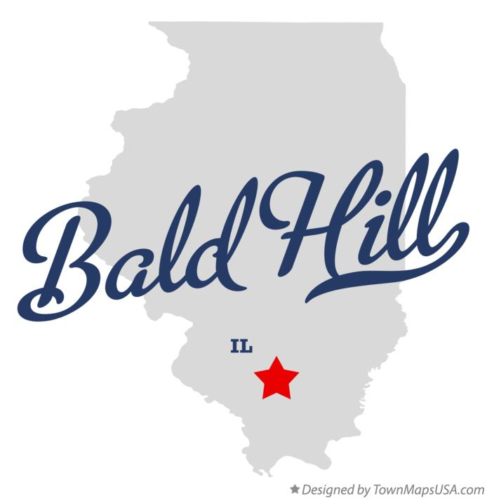 Map of Bald Hill Illinois IL