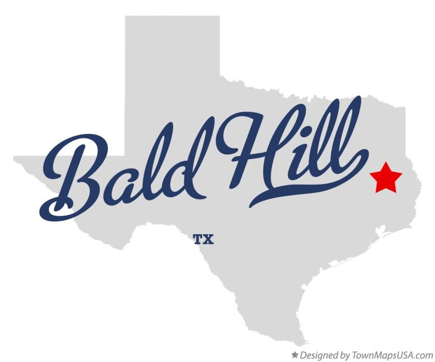 Map of Bald Hill Texas TX