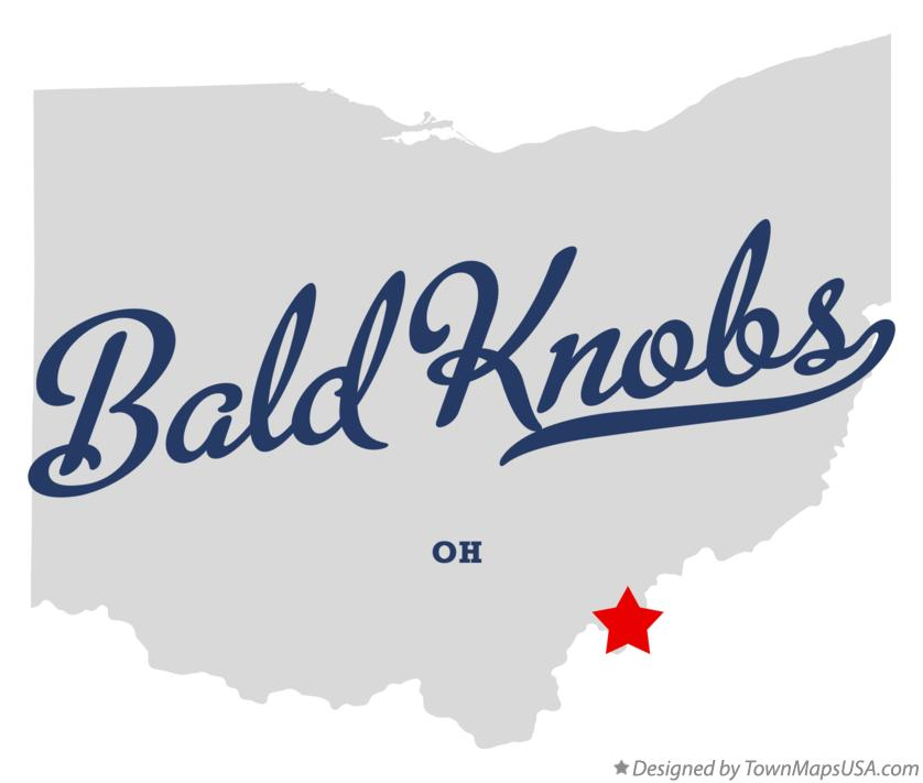 Map of Bald Knobs Ohio OH