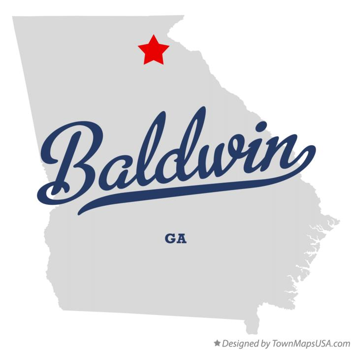 Map of Baldwin Georgia GA