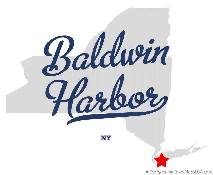 Map of Baldwin Harbor New York NY