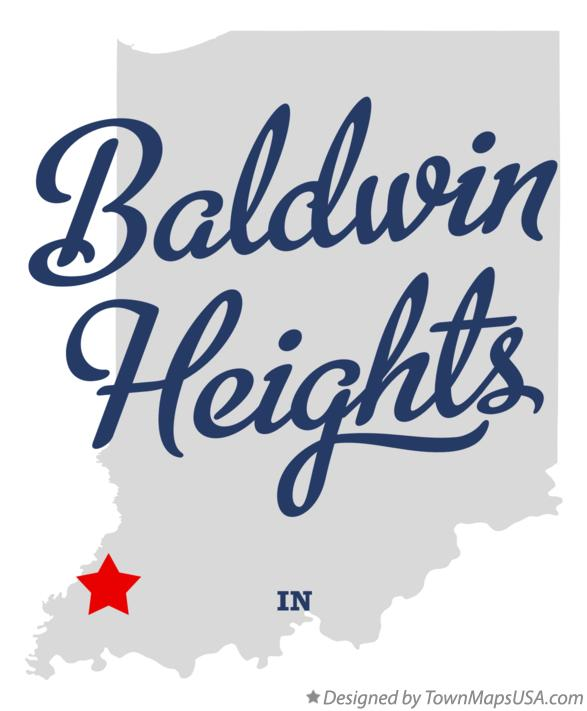 Map of Baldwin Heights Indiana IN
