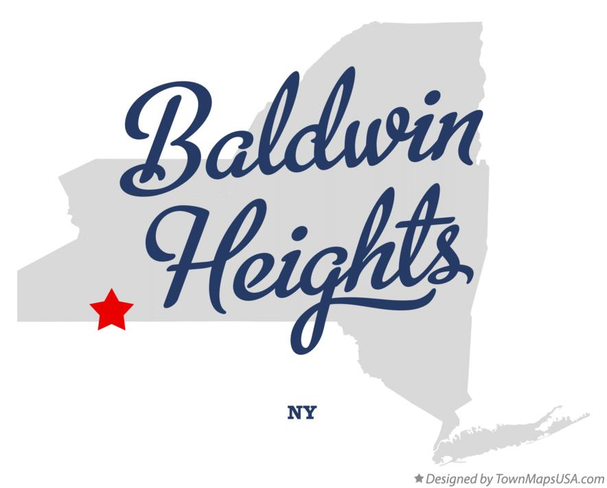 Map of Baldwin Heights New York NY