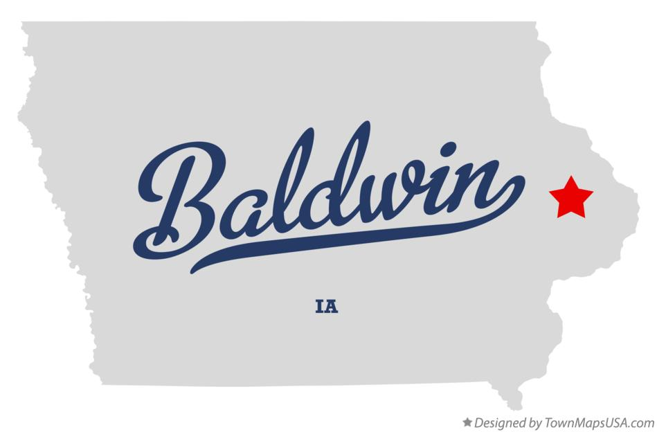 Map of Baldwin Iowa IA