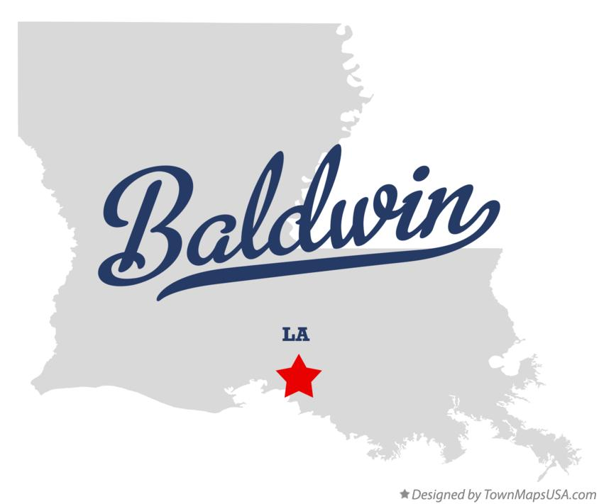 Map of Baldwin Louisiana LA