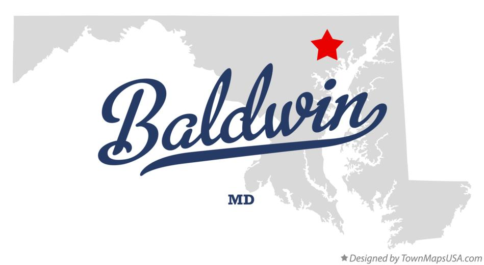 Map of Baldwin Maryland MD