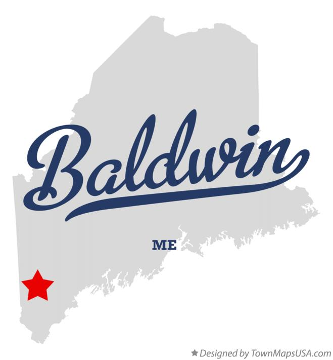 Map of Baldwin Maine ME