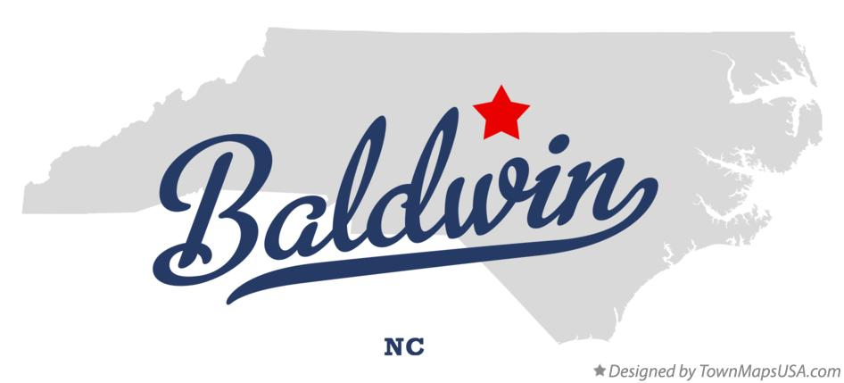 Map of Baldwin North Carolina NC