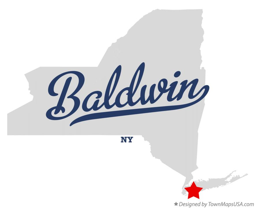 Map of Baldwin New York NY