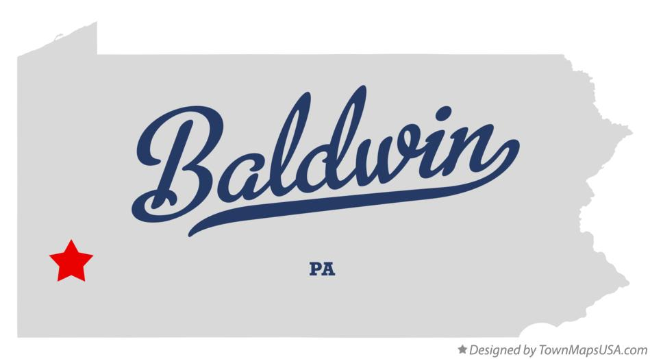 Map of Baldwin Pennsylvania PA