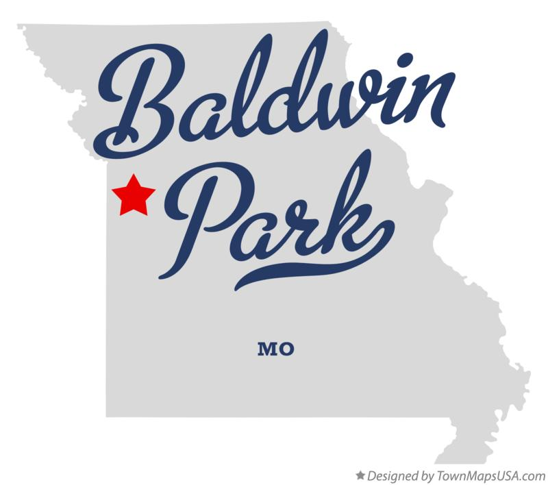 Map of Baldwin Park Missouri MO