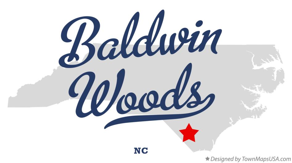 Map of Baldwin Woods North Carolina NC