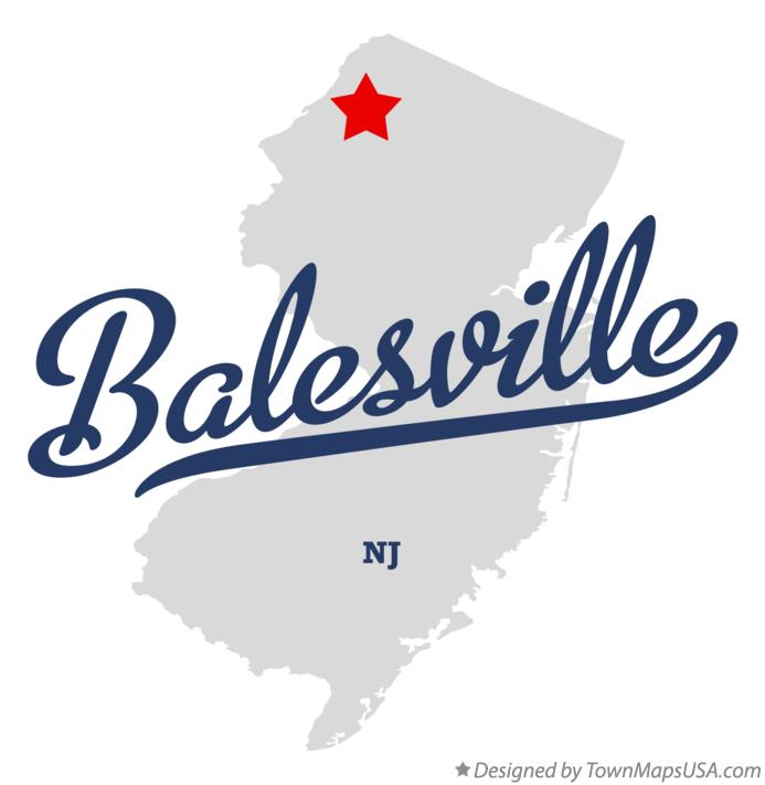 Map of Balesville New Jersey NJ