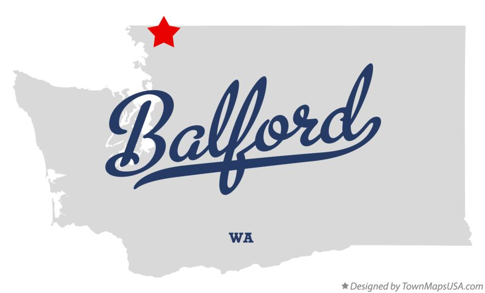 Map of Balford Washington WA