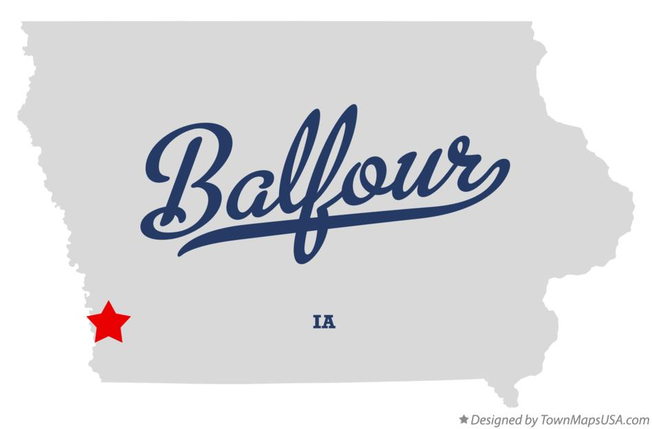 Map of Balfour Iowa IA
