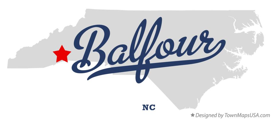 Map of Balfour North Carolina NC