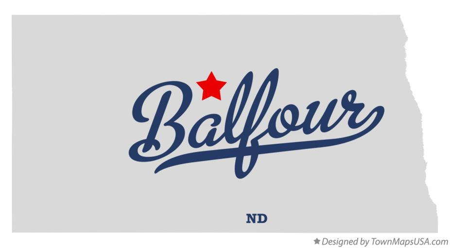 Map of Balfour North Dakota ND
